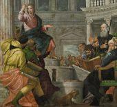 La disputa con los doctores en el Templo. Paolo Veronés. Óleo sobre lienzo, 236 x 430 cm. Hacia 1560 Madrid, Museo Nacional del Prado.