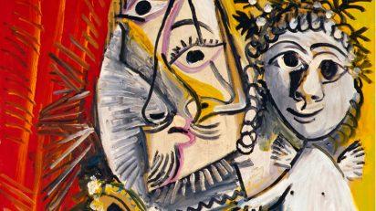 Pablo Picasso, Mousquetaire à l'épée et amour, 1969. Museo de Bellas Artes de Asturias.Colección Pedro Masaveu.