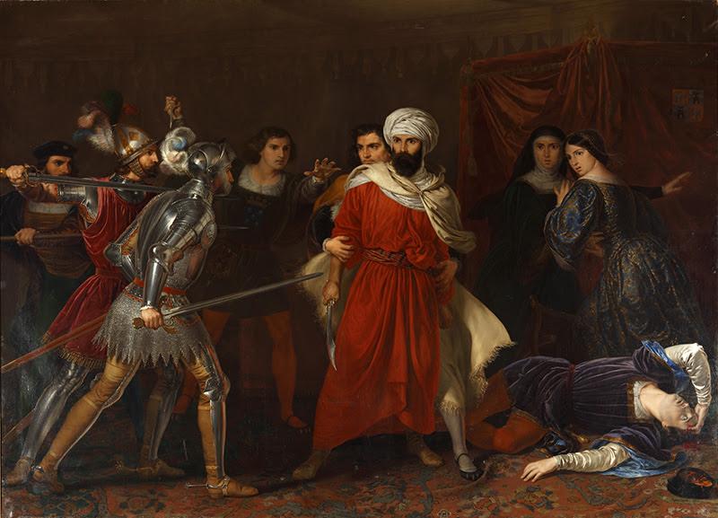 Rafael Tegeo. Episodio de la conquista de Málaga, 1850. Colecciones Reales. Patrimonio Nacional.