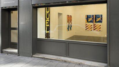Bernard Piffaretti en la Galería Marta Cervera.