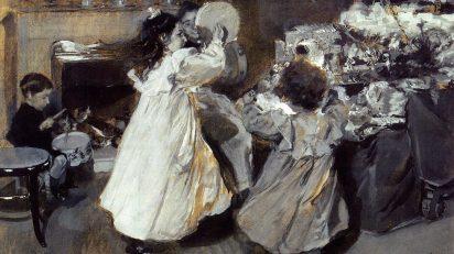Esta Noche es Nochebuena. Joaquín Sorolla y Bastida (1863-1923). Aguazo sobre papel. Fundación Rodríguez Acosta.