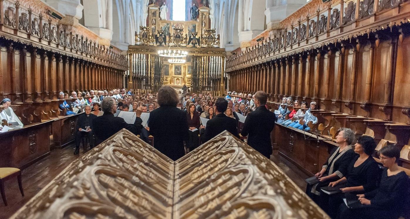 Concierto del Ensemble Gilles Binchois en el Monasterio de Santa María la Real de Las Huelgas en Burgos.
