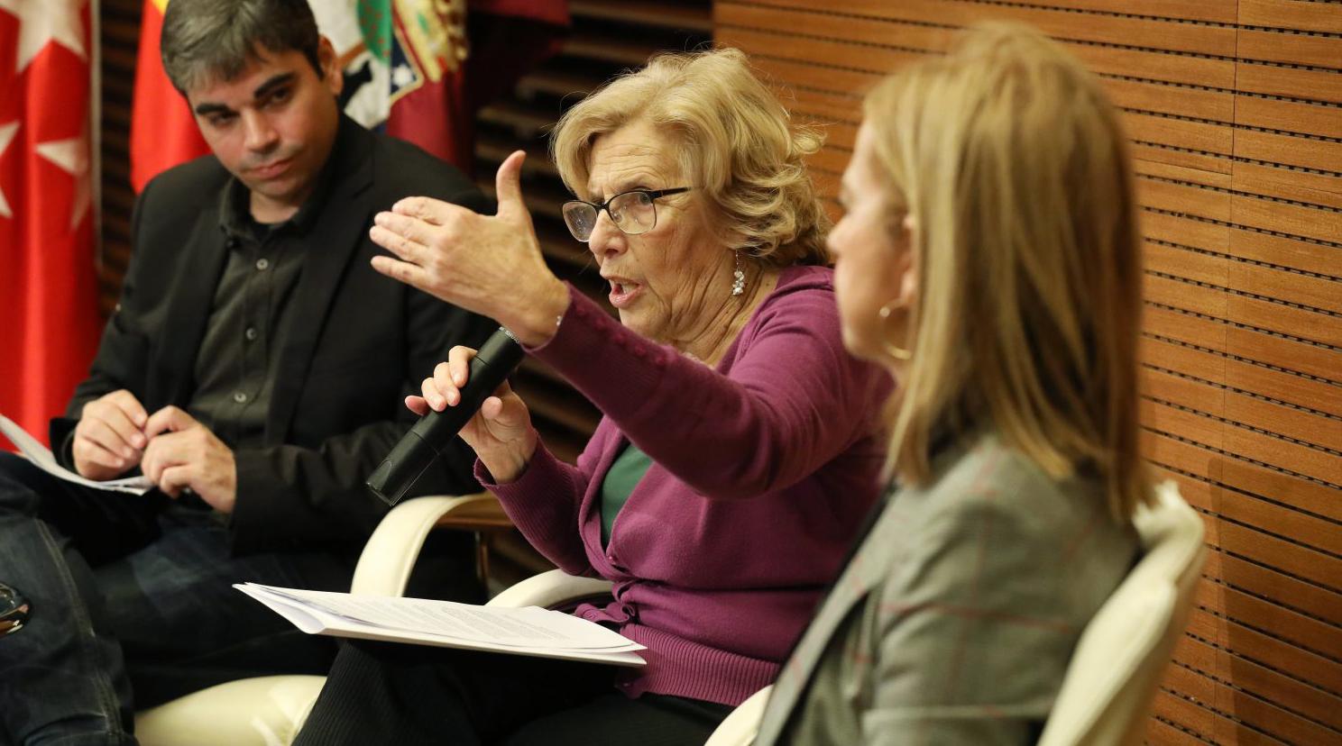La alcaldesa, Manuela Carmena, ha presentado esta nueva convocatoria de subvenciones.