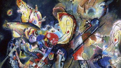 Vasili Kandinski. Nublado, 1917. Galería Estatal Tretiakov, Moscú. © Galería Estatal Tretiakov, Moscú. © VEGAP, Madrid 2018, Vasili Kandinski.