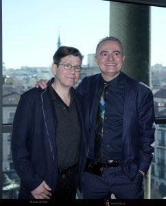 Robert Carsen, director de escena, y Joan Matabosch, director artístico del Teatro Real.