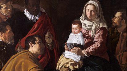 Velázquez. Adoración de los Reyes Magos, 1619. Óleo sobre lienzo, 203 x 125 cm. Museo del Prado.