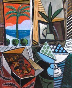 Lorenzo González. BODEGÓN. Óleo/tela, 73×60 cm.