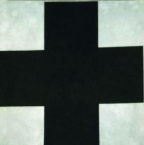 Kazimir Malévich. Cruz negra, c. 1923. © Museo Estatal Ruso, San Petersburgo.