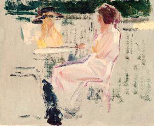 Joaquín Sorolla. Dos mujeres sentadas en una terraza.