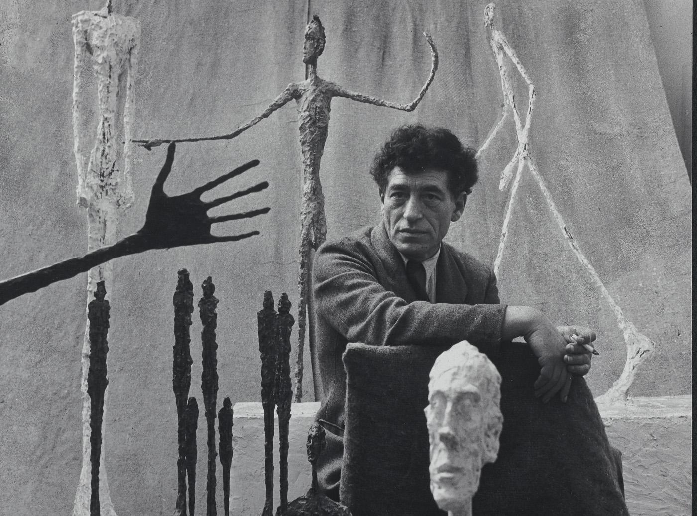 Alberto Giacometti, 1951. Fotografía de Gordon Parks. Fondation Giacometti, París. © The Gordon Parks Foundation.