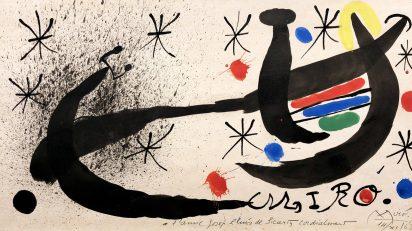 Joan Miró. Proyecto para el catálogo de la exposición 'Miró Barcelona', 1968-1969. Galería Jordi Pascual.