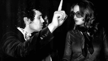 Lucio Battisti con Mina en 1973.