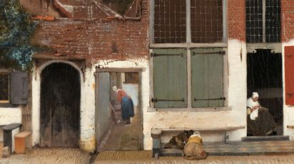 'La callejuela' (Het Straatje), del artista holandés Johannes Vermeer, realizada entre 1657 y 1658.