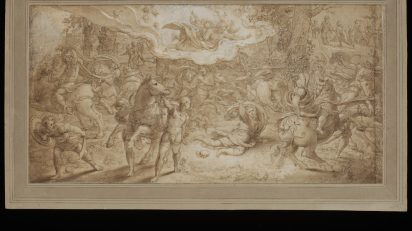 Drawing. Coecke van Aelst I, Pieter. The Conversion of St. Paul. Seventeenth Century Flemish School. 17th century.