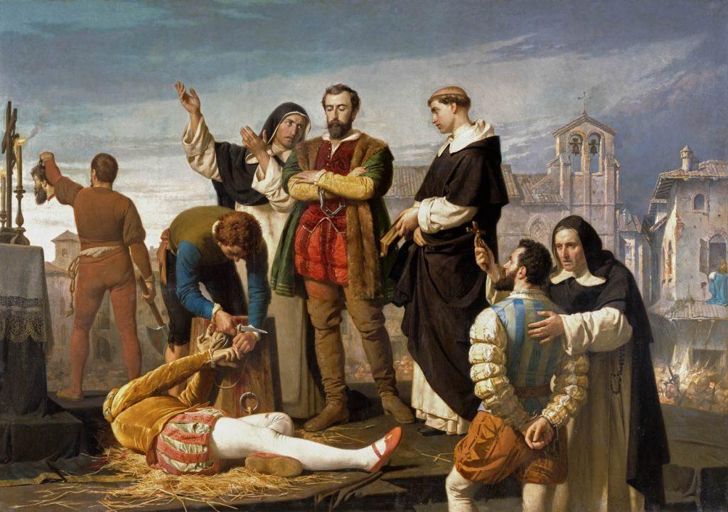 Los comuneros Padilla, Bravo y Maldonado en el patíbulo Antonio Gisbert 1860 Madrid, Archivo del Congreso de los Diputados.