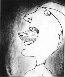 Bourgeois, Louise. Madeleine, 2000. Punta seca, 43,5 x 38,5 cm.