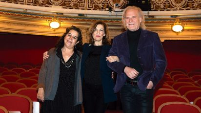 Helena Pimenta, Amaya de Miguel y Lluís Homar, nuevo director de la CNTC.