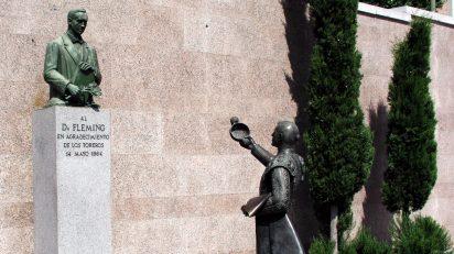 Homenaje de los toreros a Fleming en la plaza de toros de Las Ventas (Madrid).