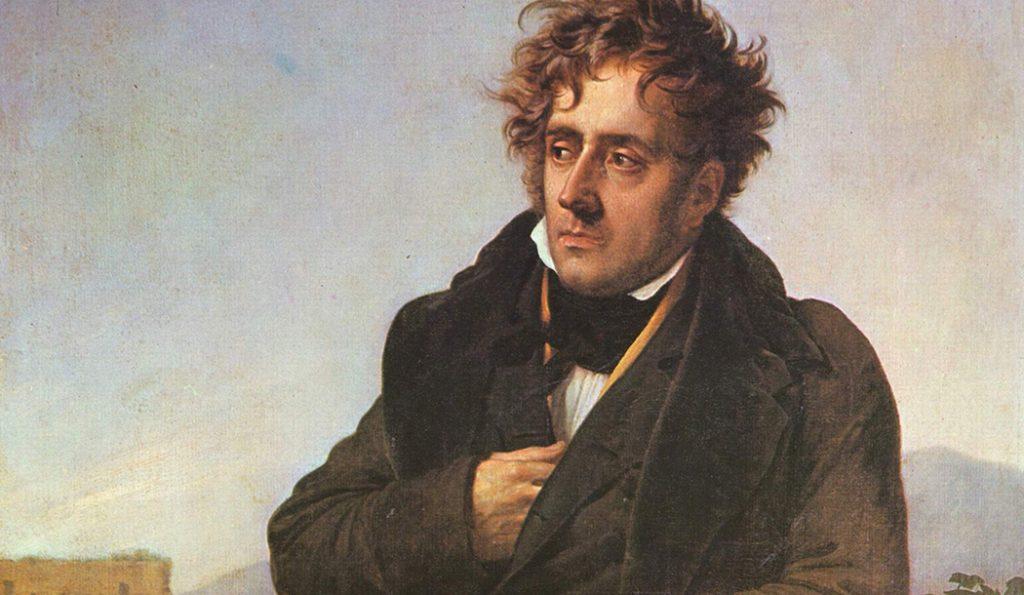Portrait of younger Retrato de Chateaubriand, vía Wikimedia Commons.