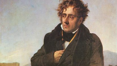 Portrait of younger Retrato de Chateaubriand, vía Wikimedia Commons.
