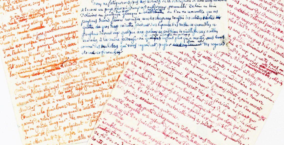 """Théophile GAUTIER. Manuscrit autographe du chapitre XI du Voyage d'Espagne """"Boire de l'eau est une volupté que je n'ai connue qu'en Espagne""""."""