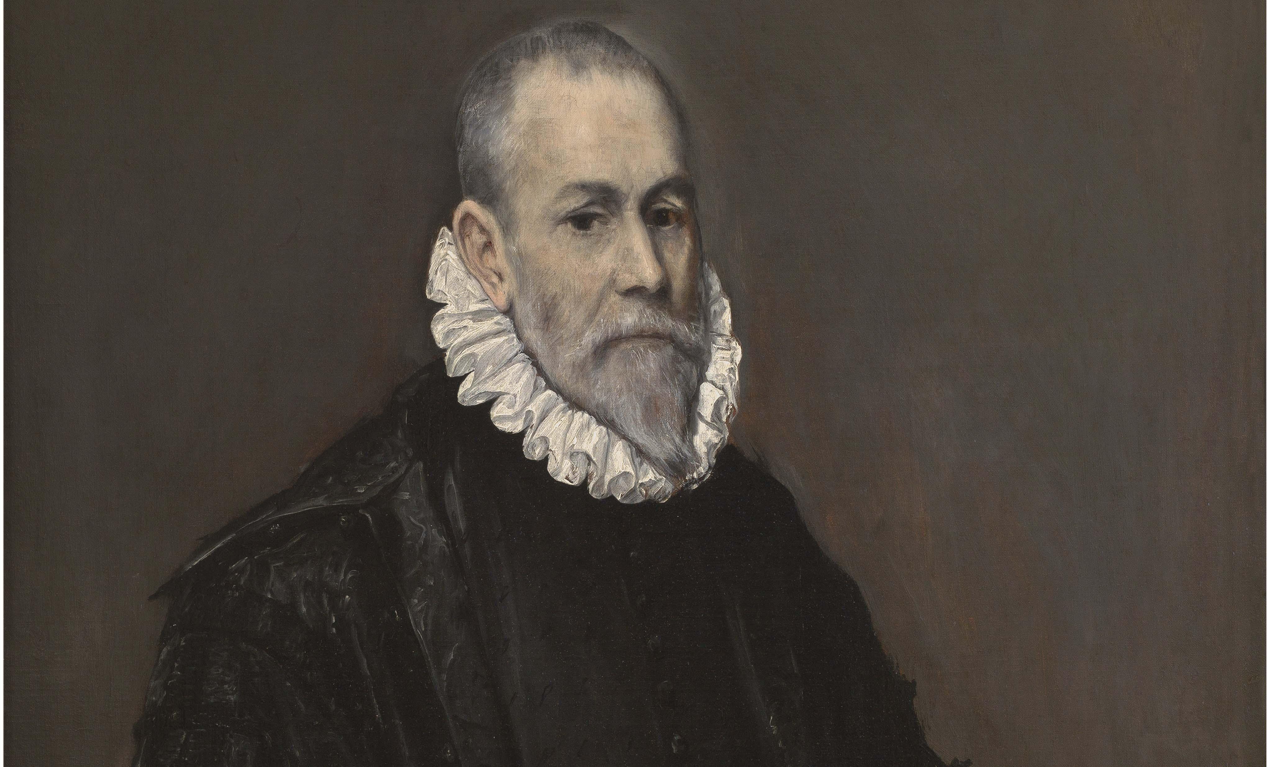 Detalle de Retrato de médico. El Greco. 1582 – 1585. Museo Nacional del Prado.