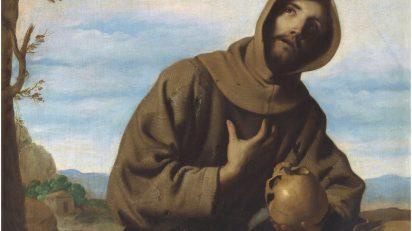 San Francisco en oración. Francisco de Zurbarán (1598-1664), 1659. Óleo sobre lienzo, 126 x 97 cm. Firmado en 1659.