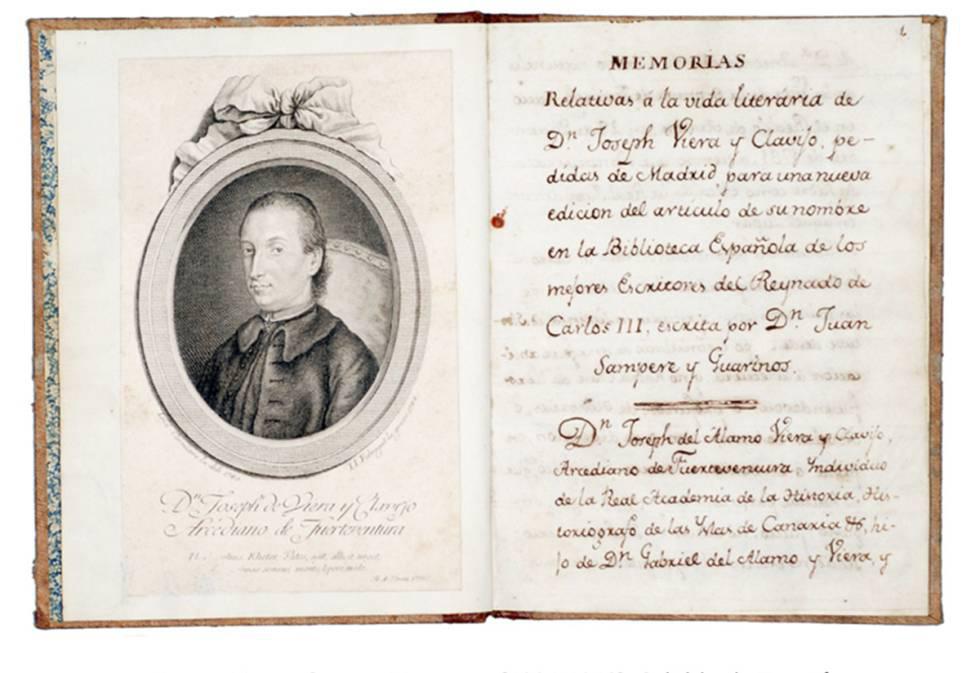 José de Viera y Clavijo: Memorias, [1806-1812]. Cabildo de Tenerife.