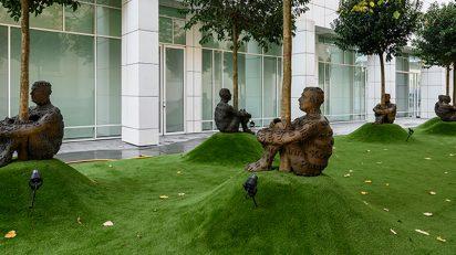 Jaume Plensa. Vista de la exposición. Foto: Miquel Coll.