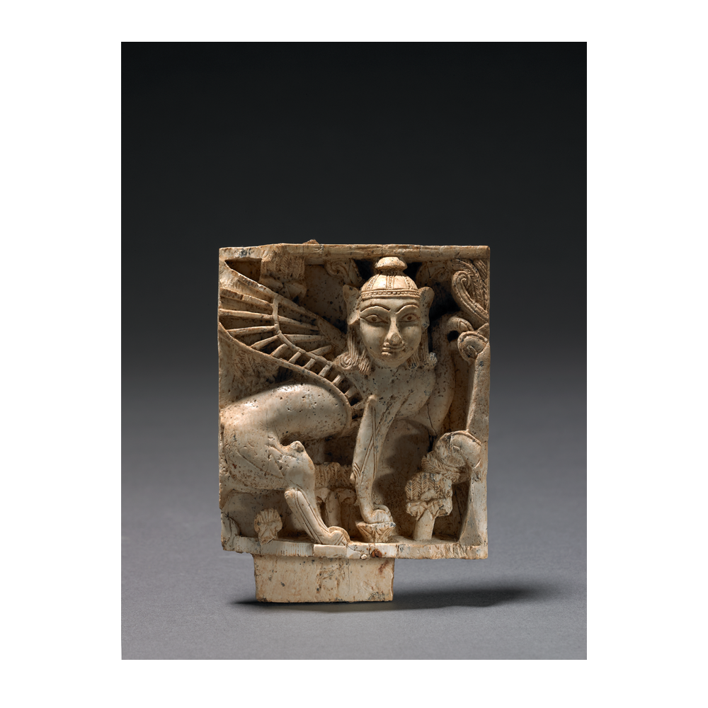 Placa decorativa. Fortaleza de Salmanassar, Nimrud (Irak). 900-700 a.C. Marfil. ©The trustees of the British Museum.