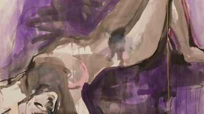Woman in Violet, 2005. Tinta sobre papel, 75 x 105 cm.