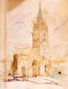 Genaro Pérez Villaamil, 'La catedral de Oviedo', 1846.