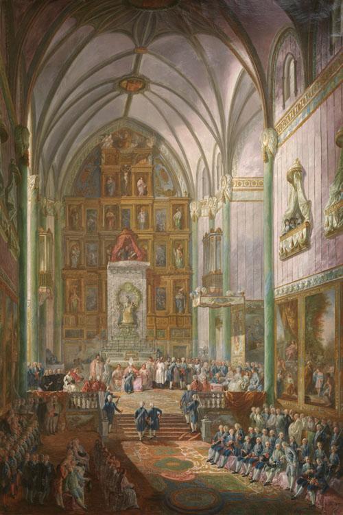 Jura de Fernando VII como príncipe de Asturias. Luis Paret y Alcázar (1746-1799). Óleo sobre lienzo, 237 x 159 cm. 1791. Madrid, Museo Nacional del Prado.