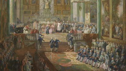 Jura de Fernando VII como príncipe de Asturias (detalle). Luis Paret y Alcázar (1746-1799). Óleo sobre lienzo, 237 x 159 cm 1791 Madrid, Museo Nacional del Prado.