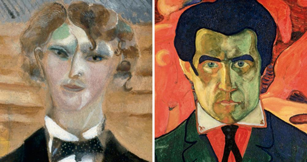 Retratos de Chagall y de Malévich / Fundación MAPFRE.
