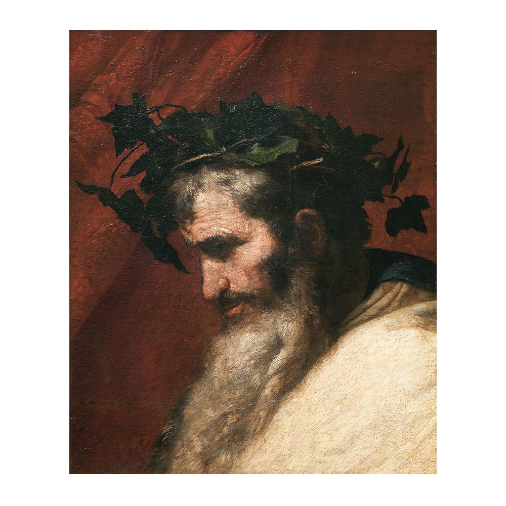 José de Ribera, Detalle de la cabeza del dios Baco, 1636. Óleo sobre lienzo. © Museo Nacional del Prado.