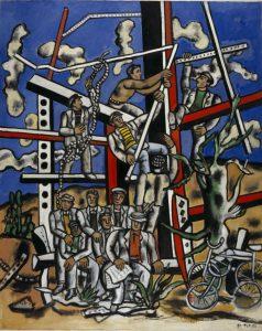 """Fernand Léger / Étude pour """"Les Constructeurs""""; l'equipe au repos, 1950 _ National Galleries of Scotland © Fernand Léger, VEGAP, Valencia, 2019."""