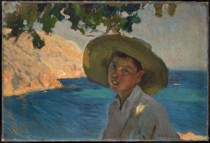 Galería Jorge Alcolea. JoaquÍn Sorolla. 'Chico con sombrero, Javea'.