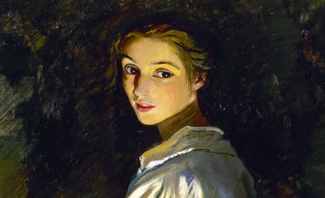 Girl with a candle (1911). Self portrait. Zinaida Serebriakova.