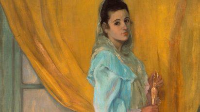 Zuloaga. Mujer de Alcalá de Guadaira, 1896. Detalle. Óleo sobre lienzo. 173 x 97 cm. Museo Ignacio Zuloaga. Castillo de Pedraza.