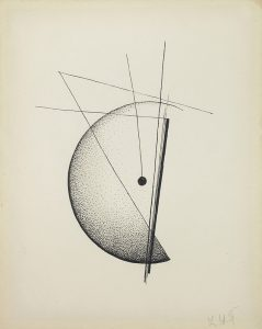 Sin título, 1926 , Tinta sobre papel 21,5 x 17 cm.