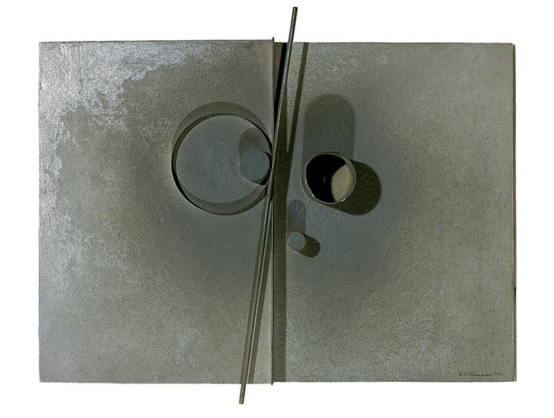 Léon Tutundjian. Sin título, 1926. Relieve sobre madera y metal 25 x 34,8 cm.