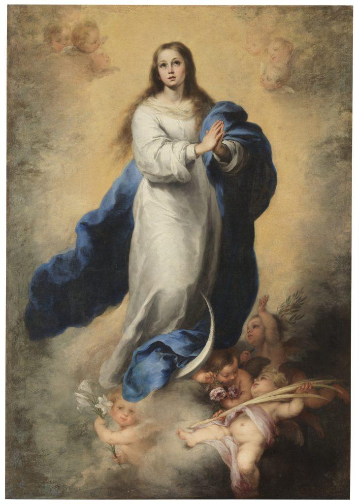 'La Inmaculada del Escorial', Bartolomé Esteban Murillo. Óleo sobre lienzo. Hacia 1665. Madrid, Museo Nacional del Prado.