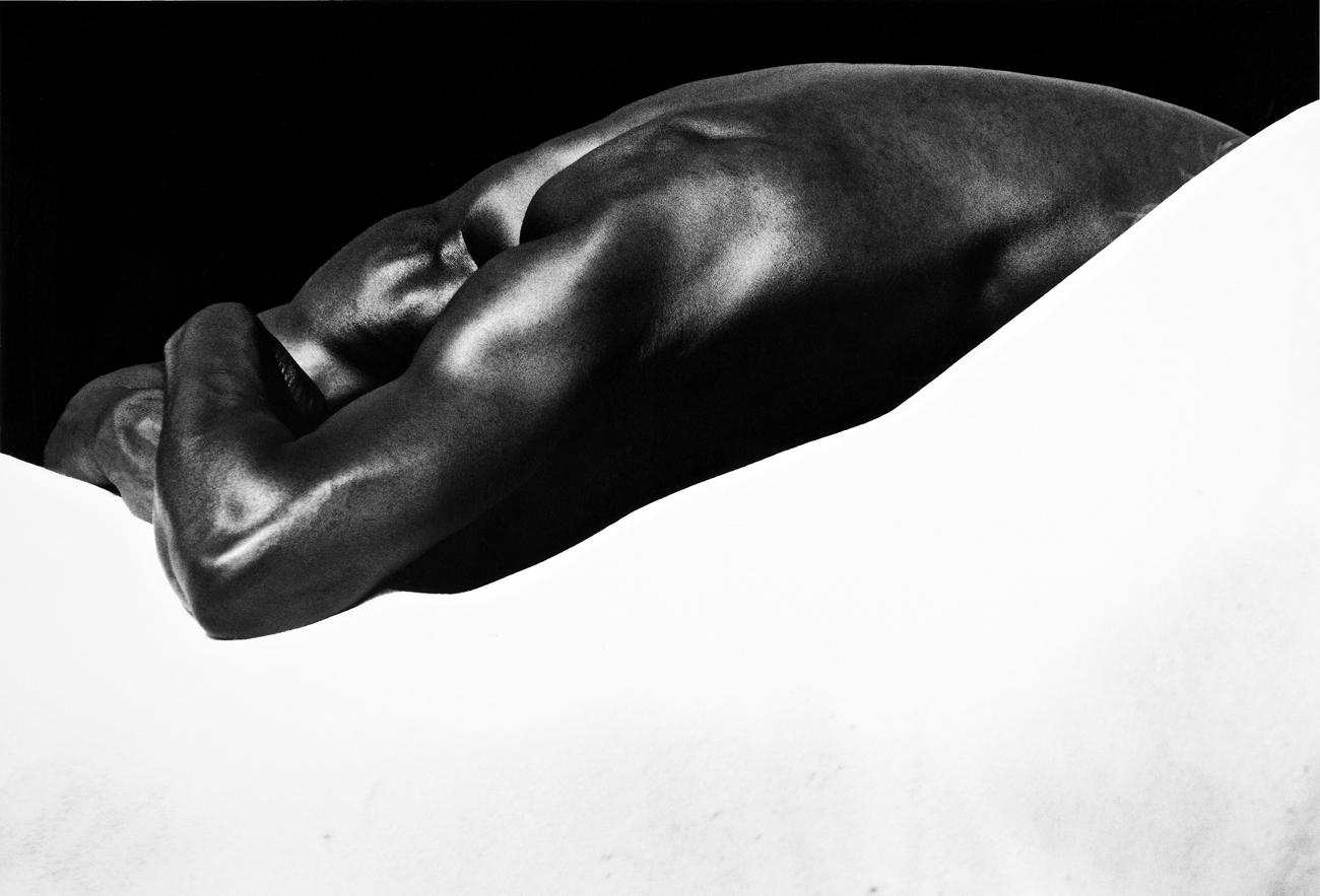 Laurent Elie Badessi, Man's Back, Horse's Back, Camargue, France, 1994. ©Laurent Elie Badessi.