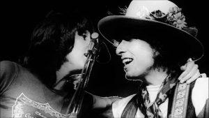 Bob Dylan y Joan Baez, durante la Rolling Thunder Revue