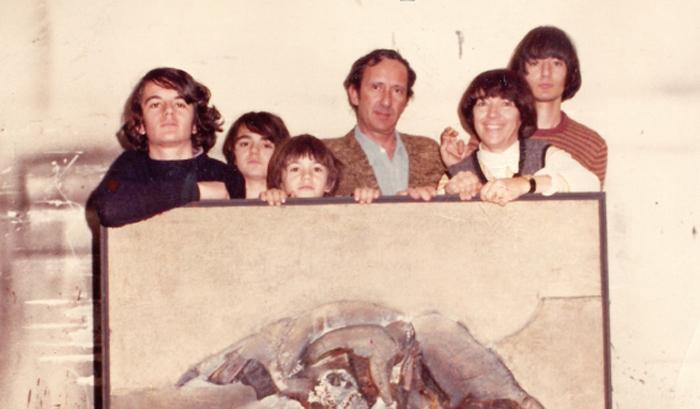La familia de Lucio Muñoz y Amalia Avia.