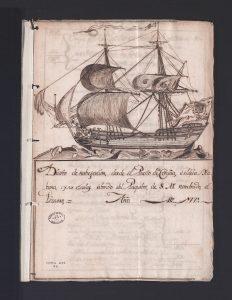 Diario de navegación del paquebot 'El Pizarro'.1 de septiembre de 1771. Correos, 269B, N.2.