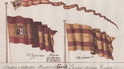 Banderas y gallardetes para los buques correos de España 1785. MP-Banderas, 38.