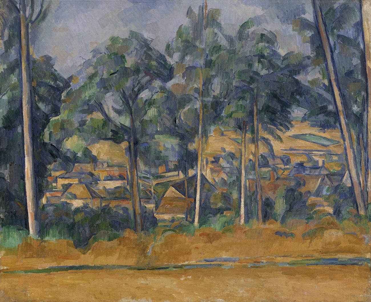 Paul Cézanne. 'Pueblo detrás de los árboles (Marines)', ca. 1898. Der Kunstverein in Bremen – Kunsthalle Bremen. Foto: Lars Lohrisch.