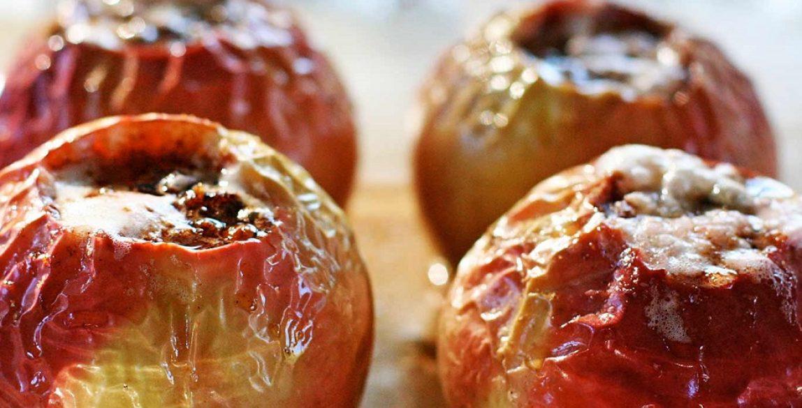 Manzanas asadas.